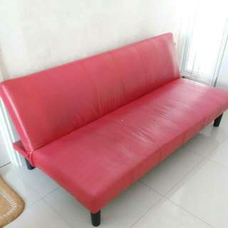 Red Sofa + Bed