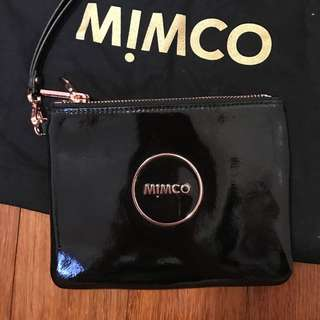 Mimco Rose Gold Duo Pouch