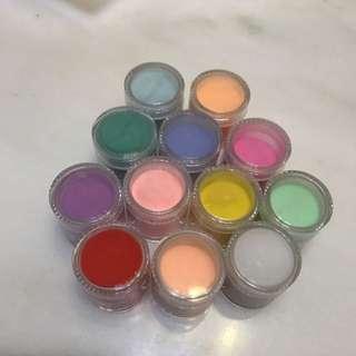 🚚 光療用水晶粉雕 12色 大容量
