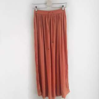 Sportsgirl Orange Maxi Skirt