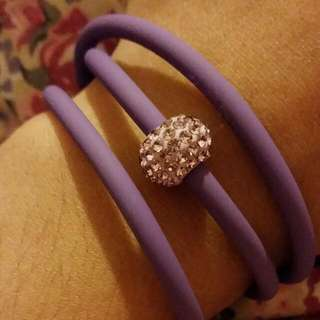 Purple Crystal Wrap Around Bracelet