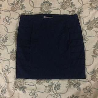 Forever 21 Dark Blue Pencil Skirt