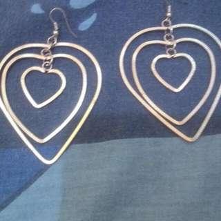 Preloved Anting Love Silver