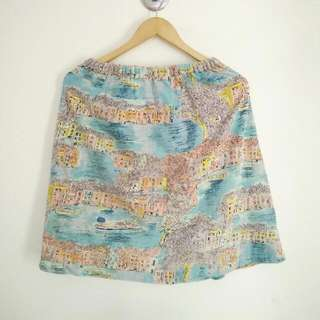 Old Town Pattern Skirt