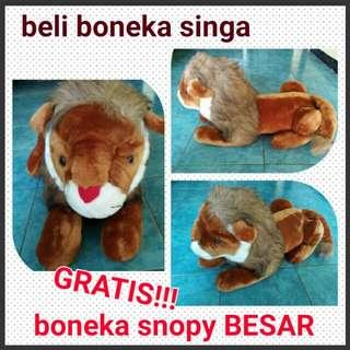 Boneka Singa Gratis Boneka Besar