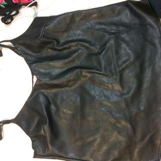 Leather Look Supre Singlet