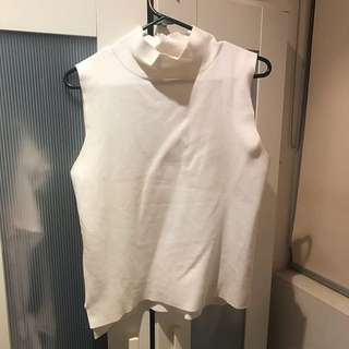 Turtle Neck White Top (fits 10-14