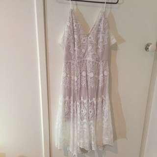 White Lace Size 10 Dress