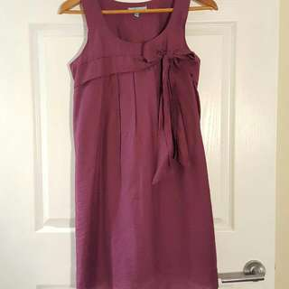 MOROCCO Purple Tunic Shift Dress Size M