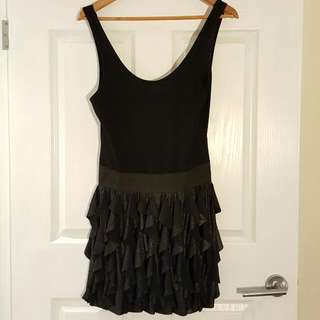 KENJI Layered Little Black Party Dress BNWOT Size 10