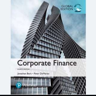 Corporate Finance (4th Edition 2017)