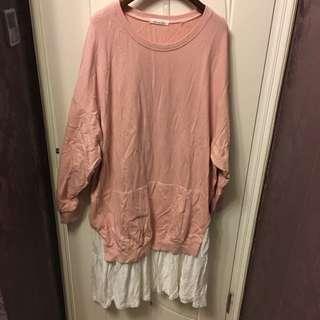 粉紅色長衛衣