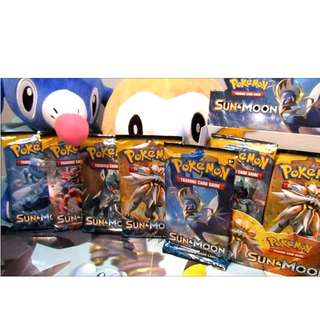 NEWWW LATEST POKEMON Sun and Moon Booster Packs