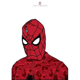 SPIDERMAN X BATHING APE A3 POSTER