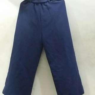 藍色寬褲 附皮帶