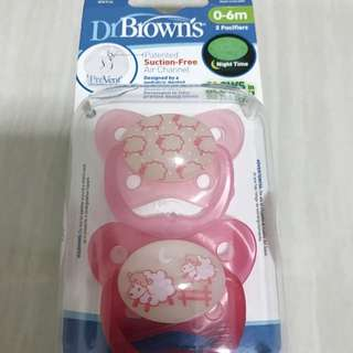 Preloved Pacifier Dr Browns Glow In The Dark Isi 2pcs