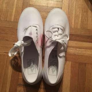 BNWT Vans White Keds Style Sneakers