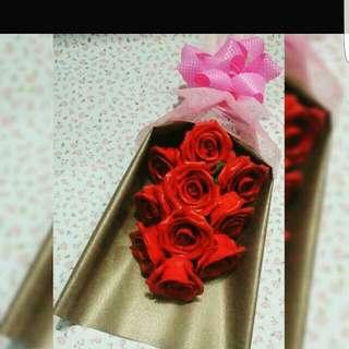 Bunga Sabun Red Rose Banquet