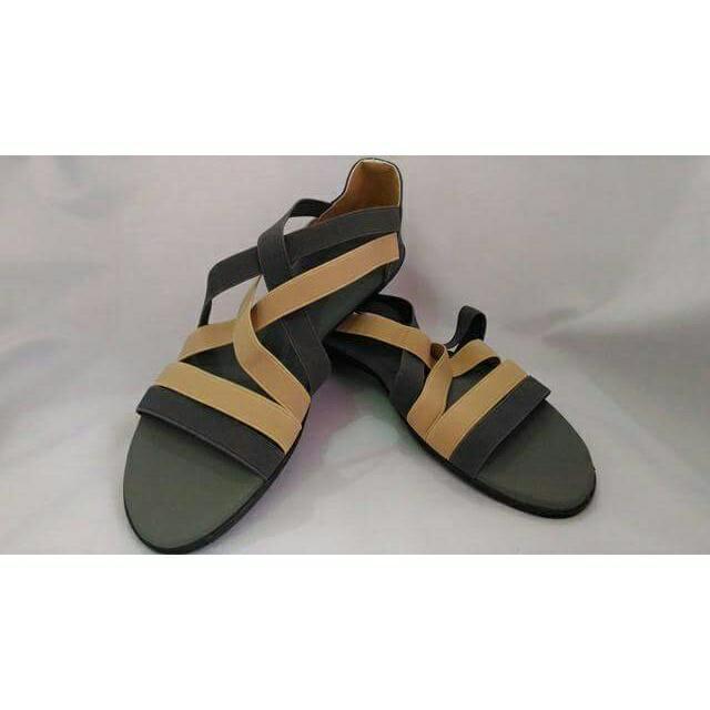 2 Strap Garter Flat Sandals