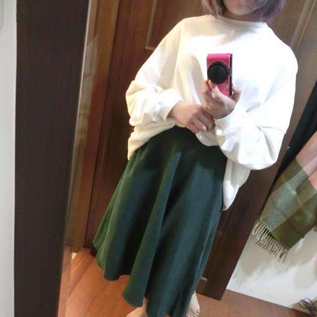 綠色傘狀長裙
