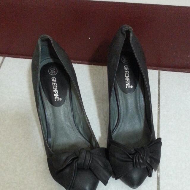 【專櫃貨】全黑中跟鞋 24  #舊愛換新歡