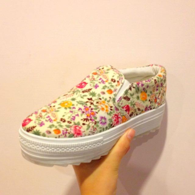 花色厚底鞋