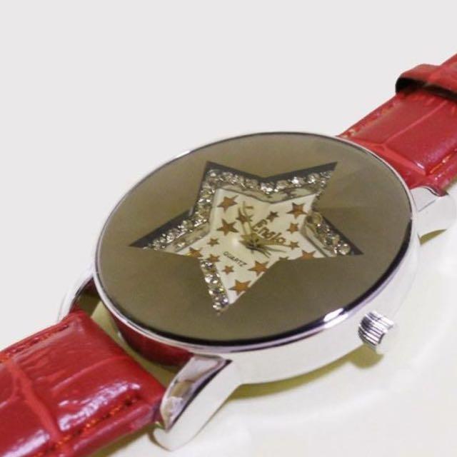 「全新」星星鏡面造型手錶