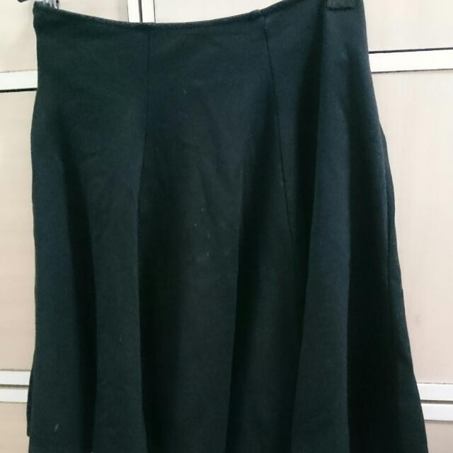 二手 meier.q 黑 黑色 寬裙 傘裙 短裙 圓裙 裙 裙子