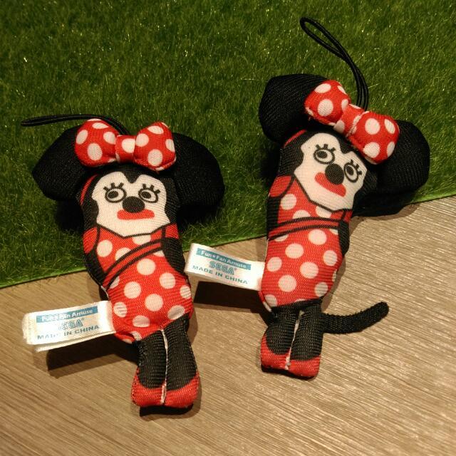 迪士尼 SEGA 米妮 玩偶 吊飾
