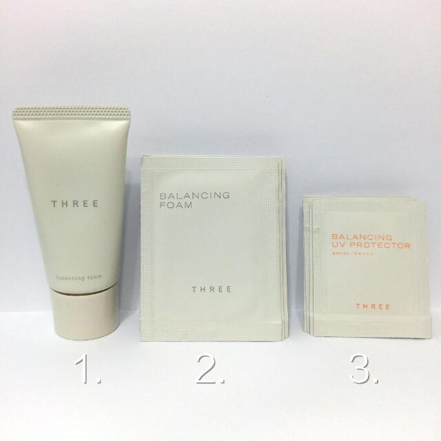 日本 THREE 平衡洗顏皂霜 / 平衡UV防曬乳