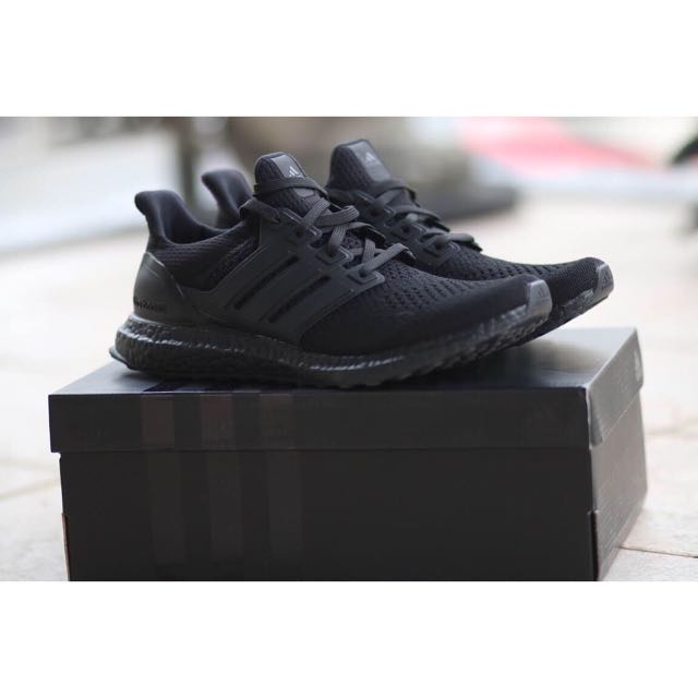 5591293905c5f ... canada adidas ultra boost ltd 1.0 triple black mens fashion footwear on  carousell e763c ddc1a