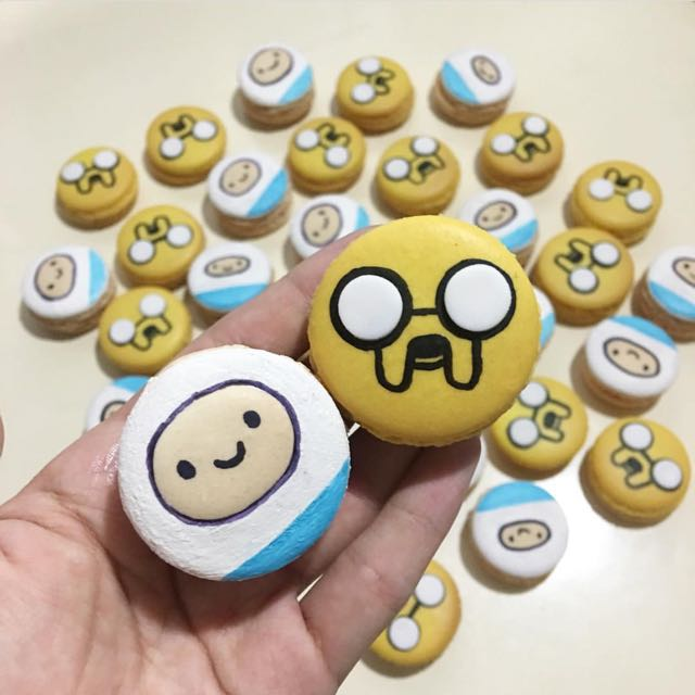 Adventure Time macarons, Food & Drinks, Baked Goods on Carousell