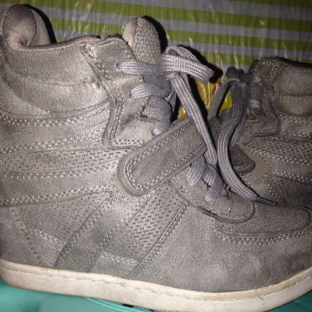 Airwalk Sneek Gray Sneaker Wedge Heel