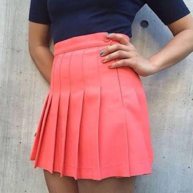 American Apparel Tennis Skirt Watermelon
