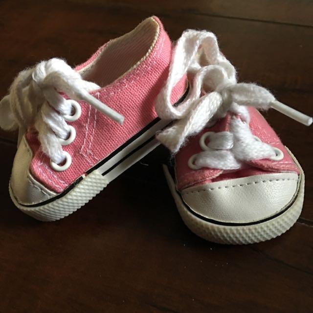 American Girl Doll Pink Sneakers