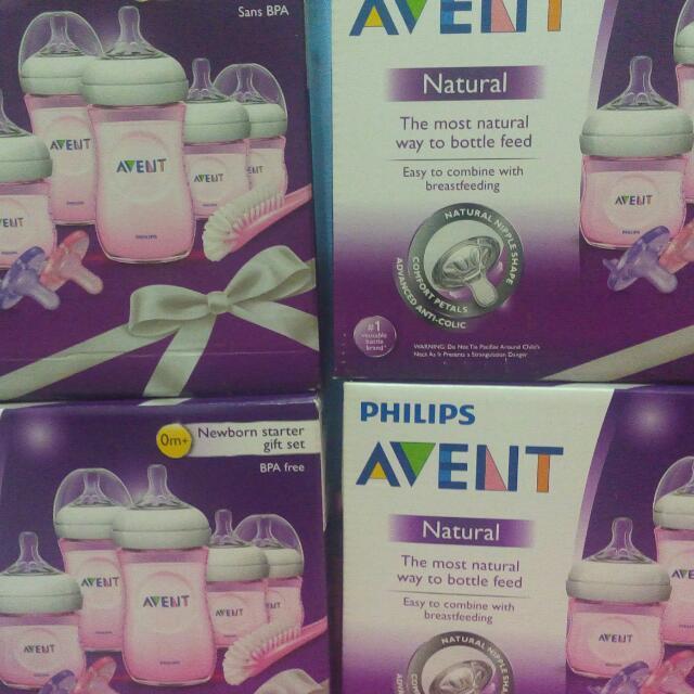 Avent Natural Newborn Starter Gift Set (pink)