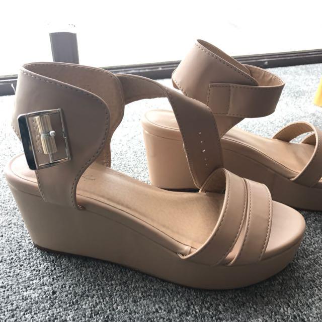 Beige Platform Shoes