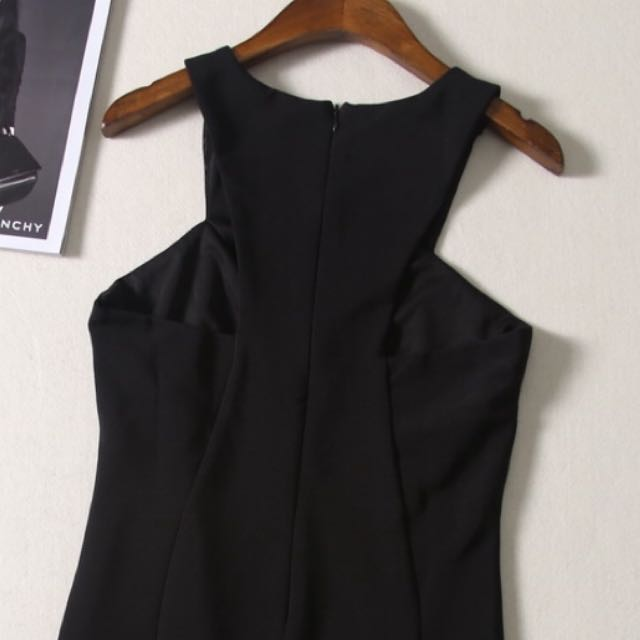 Cut In Design Black Dress