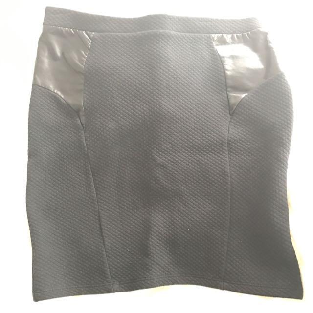 Black Short Pencil Skirt