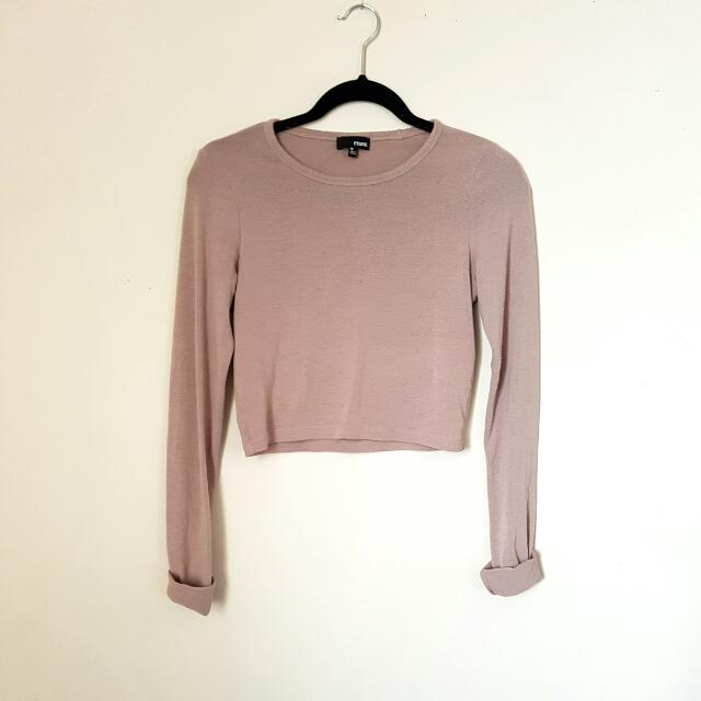 Blush Pink Wilfred Crop Long Sleeve