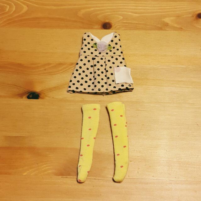 Blythe 碧麗絲 娃衣~點點娃娃背心裙+襪套