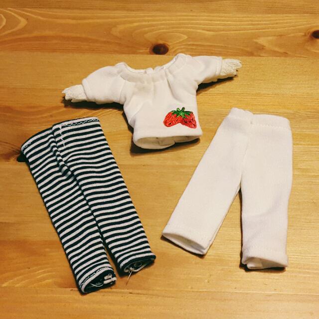 Blythe 碧麗絲 娃衣~草莓條紋睡衣套組