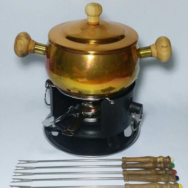 Bronze Fondue Set