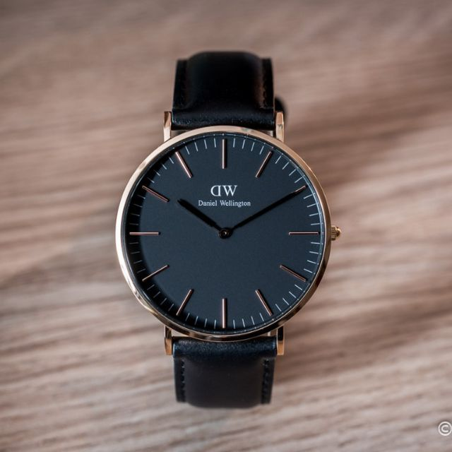60b30ed1f DANIEL WELLINGTON DW00100127 CLASSIC BALCK SHEFFIELD WATCH 40MM, BLACK DIAL  AND LEATHER STRAP, Men's Fashion, Watches on Carousell