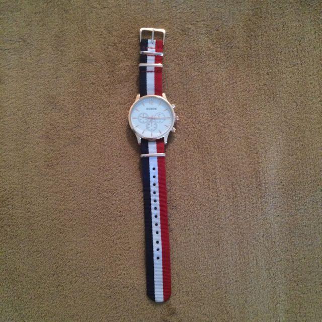 Debon Premium Watch Red/White/Blue Band