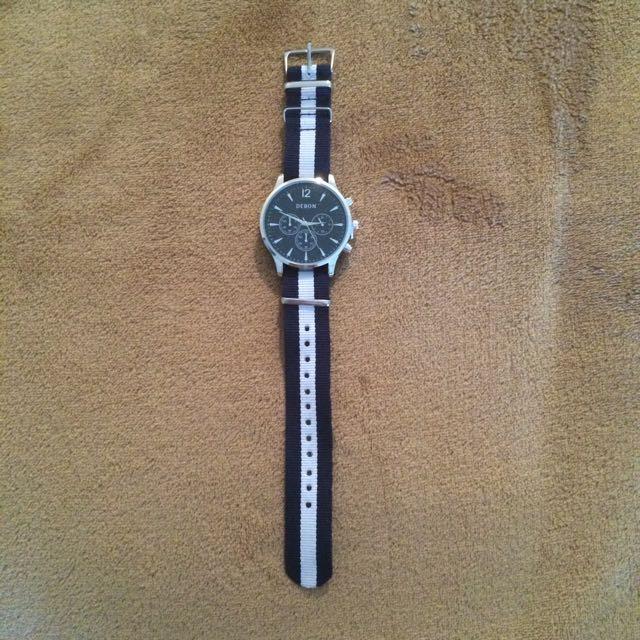 Debon Premium Watch White/Blue Band