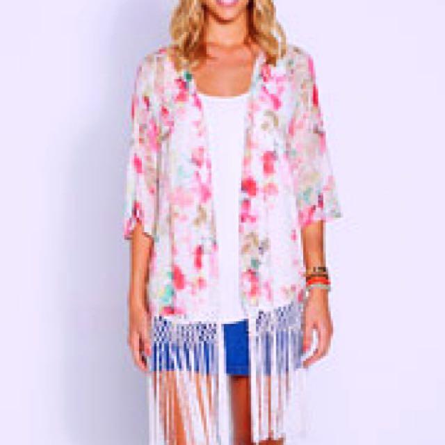 Dotti Sheer Floral Kimono Size 6