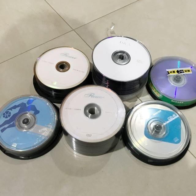 全新空白DVD、CD 多品牌、另售不織布保存套