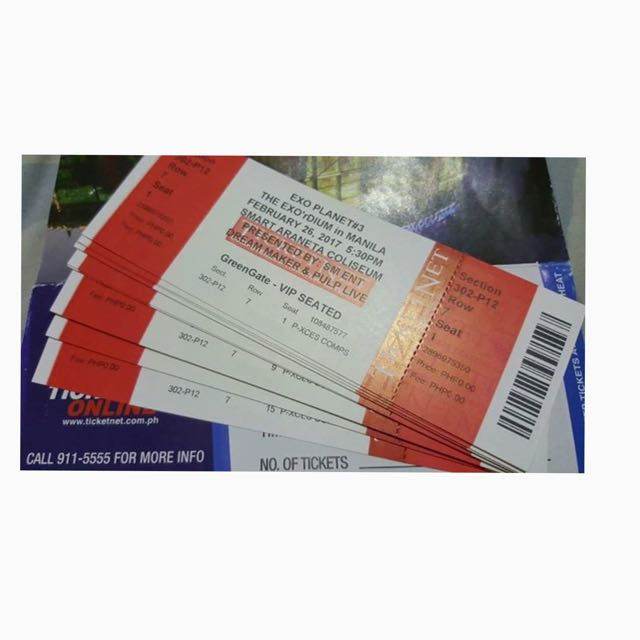EXO Seated VIP Concert tickets