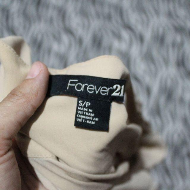 F21 Beige long blouse